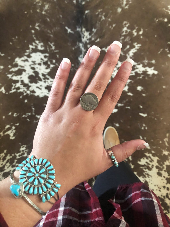Authentic Buffalo Nickel Ring