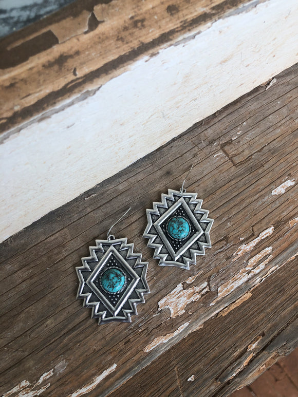 Silver / Turquoise Earrings