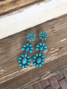 Turquoise Clip Ons