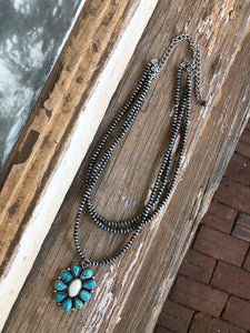 Cluster Layered Navajo Necklace