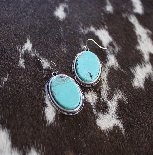 Turquoise / Silver Earrings