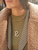 PREORDER Pearl Initial Necklace