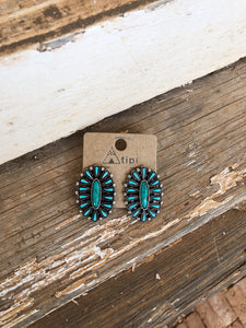 Turquoise Oval Clusters