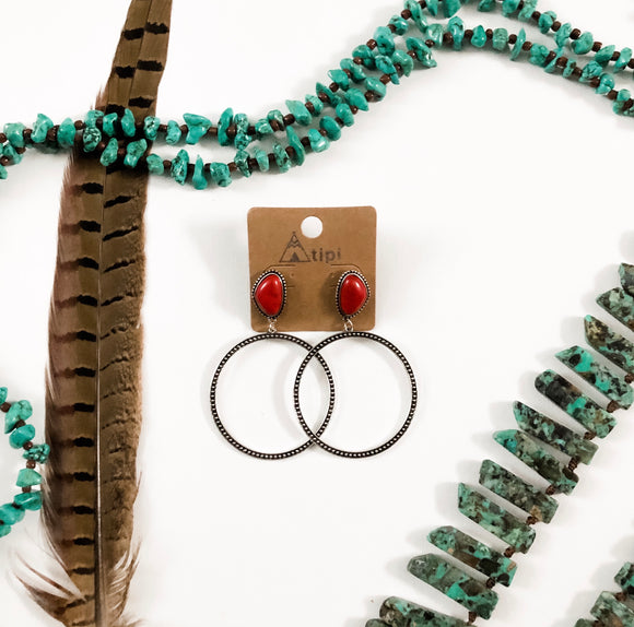 Red Stone Hoops