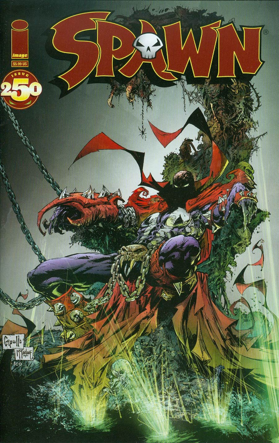 Spawn #250 (Capullo variant)