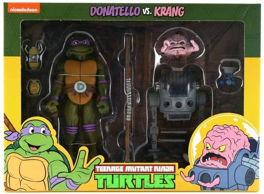 NECA Teenage mutant ninja turtles 2-pack Donatello vs  Krang