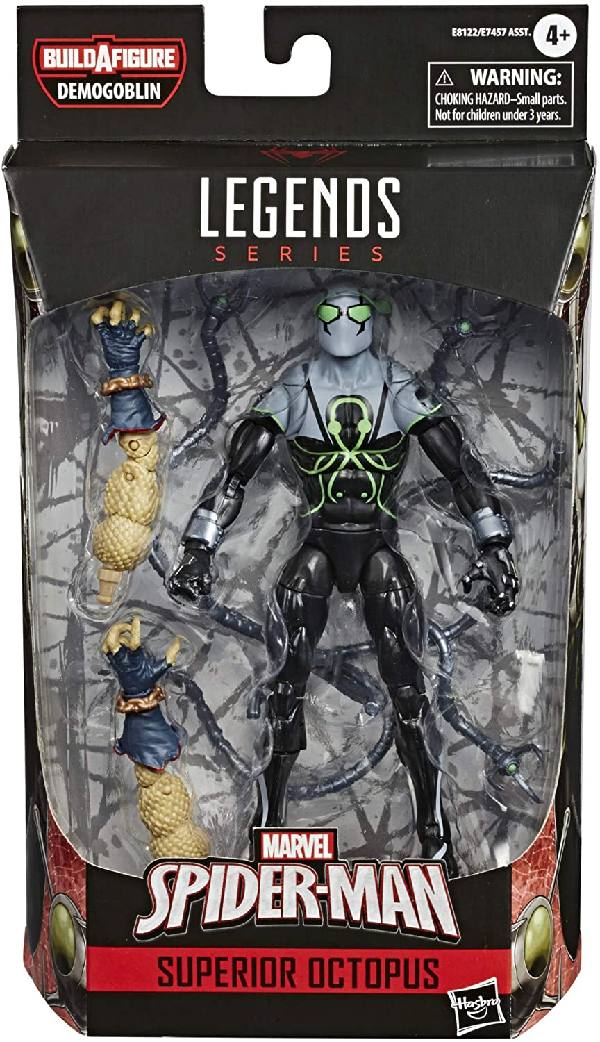 "Hasbro Marvel Legends Spiderman 6"" figures"