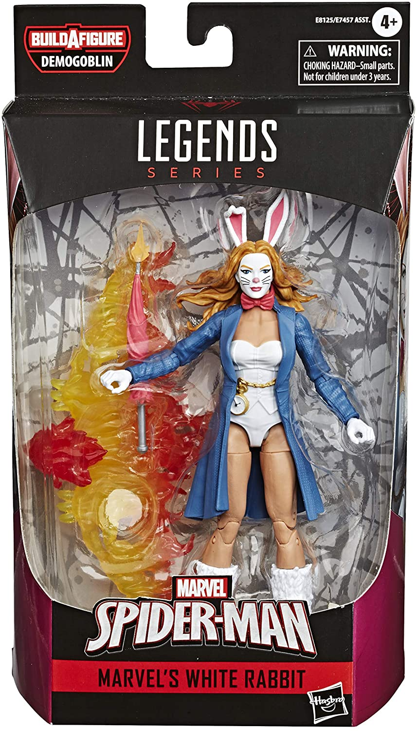 "Hasbro MarvelLegends Spider-Man - White Rabbit 6"" figures"
