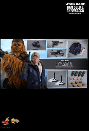 Hot Toys Star Wars The Force Awakens - Han Solo and Chewbacca set