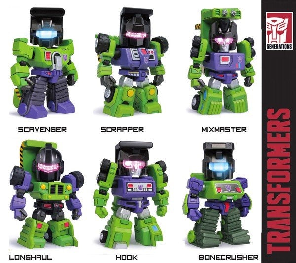 Transformers - Kids Logic TF04 Devastator mini set