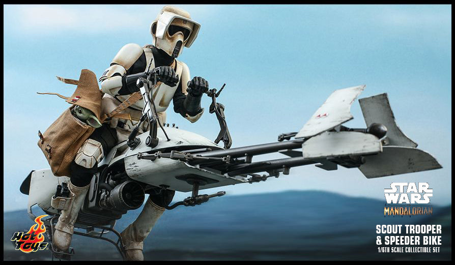 Hot Toys SCOUT TROOPER AND SPEEDER BIKE 1/6TH SCALE COLLECTIBLE SET