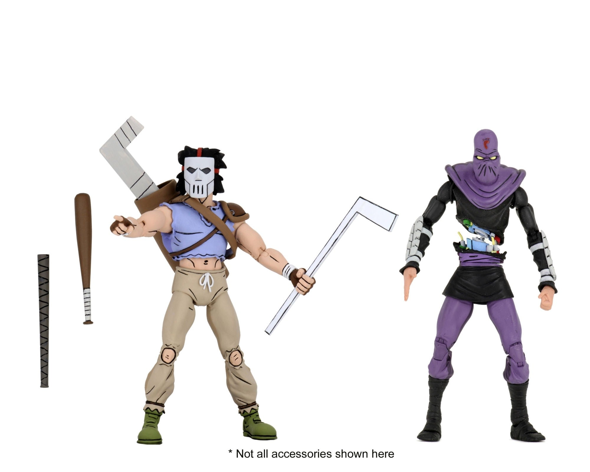 NECA TEENAGE MUTANT NINJA TURTLES CASEY JONES & FOOT SOLDIER TMNT ACTION FIGURE 2 PACK