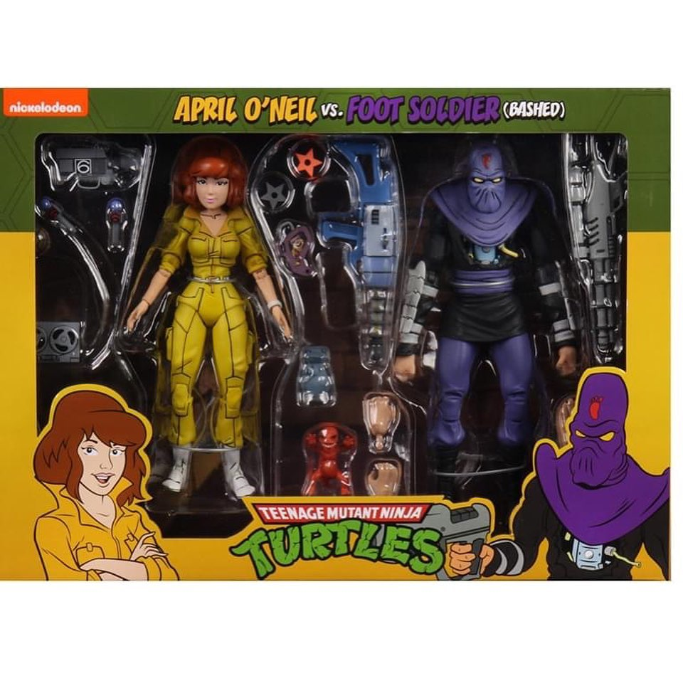 NECA Teenage mutant ninja turtles 2-pack April O'Neil & Foot soldier