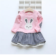 Load image into Gallery viewer, Girl's Toddler Bunny Dress-My Bunny Boutique