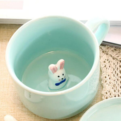 Bunny In The Center Mug-My Bunny Boutique