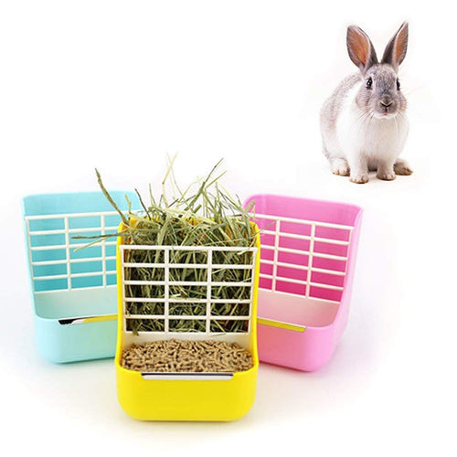 Hay and Pellet Cage Feeder-My Bunny Boutique