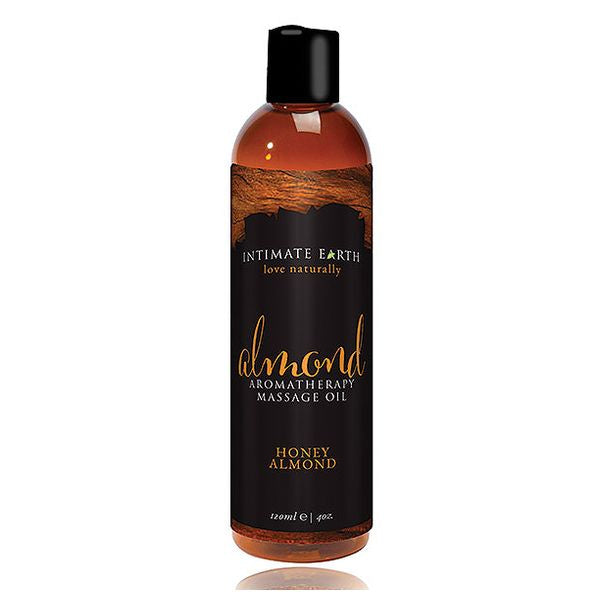 Massageolja men mandelarom 240 ml Intimate Earth 6455