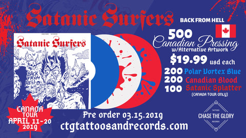 Satanic Surfers-Back From Hell CANADIAN PRESS Vinyl LP Record