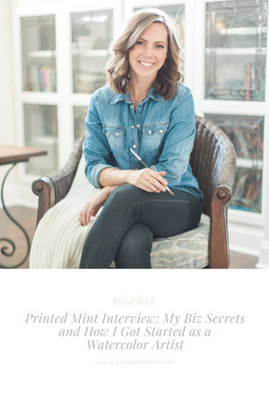 Printed Mint Interview: My Biz Secrets and How I Got Started as a Watercolor Artist