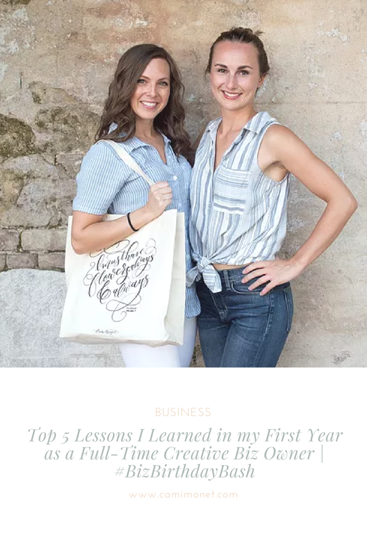 Top 5 Lessons I Learned in my First Year as a Full-Time Creative Biz Owner | #BizBirthdayBash