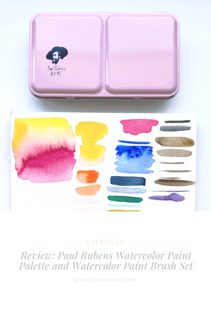 Review: Paul Rubens Watercolor Paint Palette and Watercolor Paint Brush Set