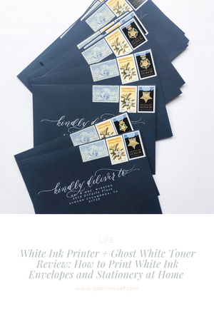 White Ink Printer + Ghost White Toner Review: How to Print White Ink Envelopes and Stationery at Home