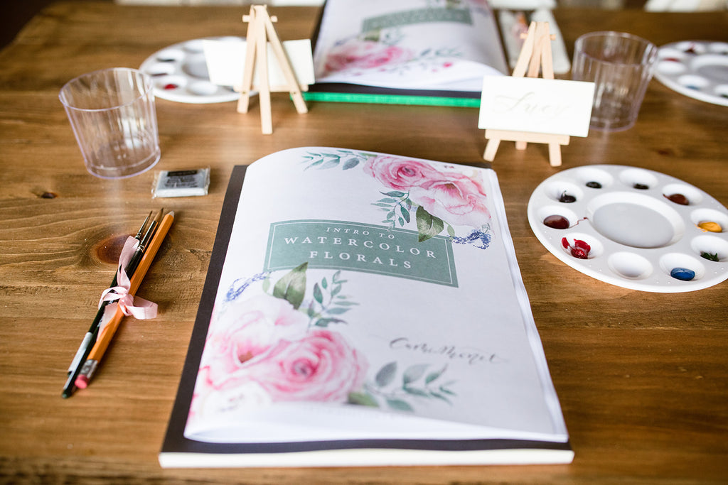 intro to watercolor florals booklet | Cami Monet