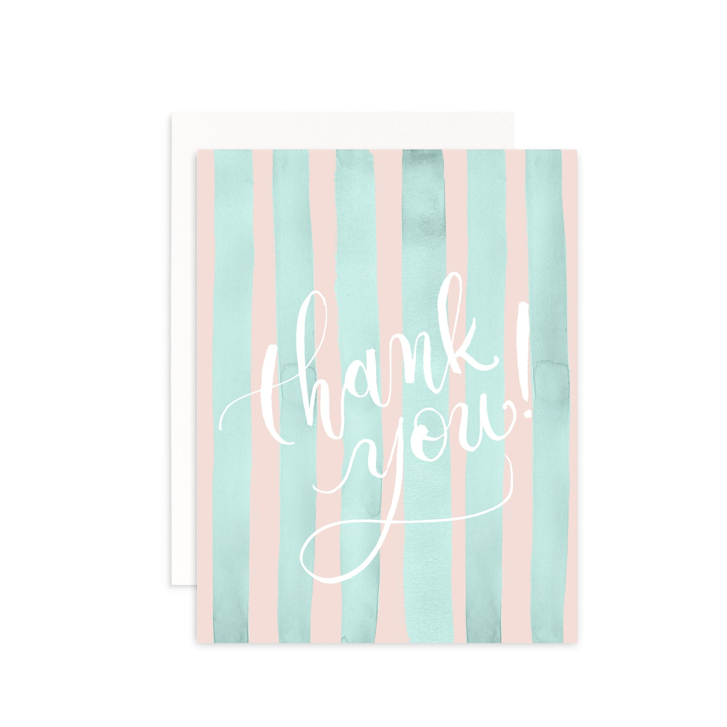 Summer Stripes Thank You Greeting Card