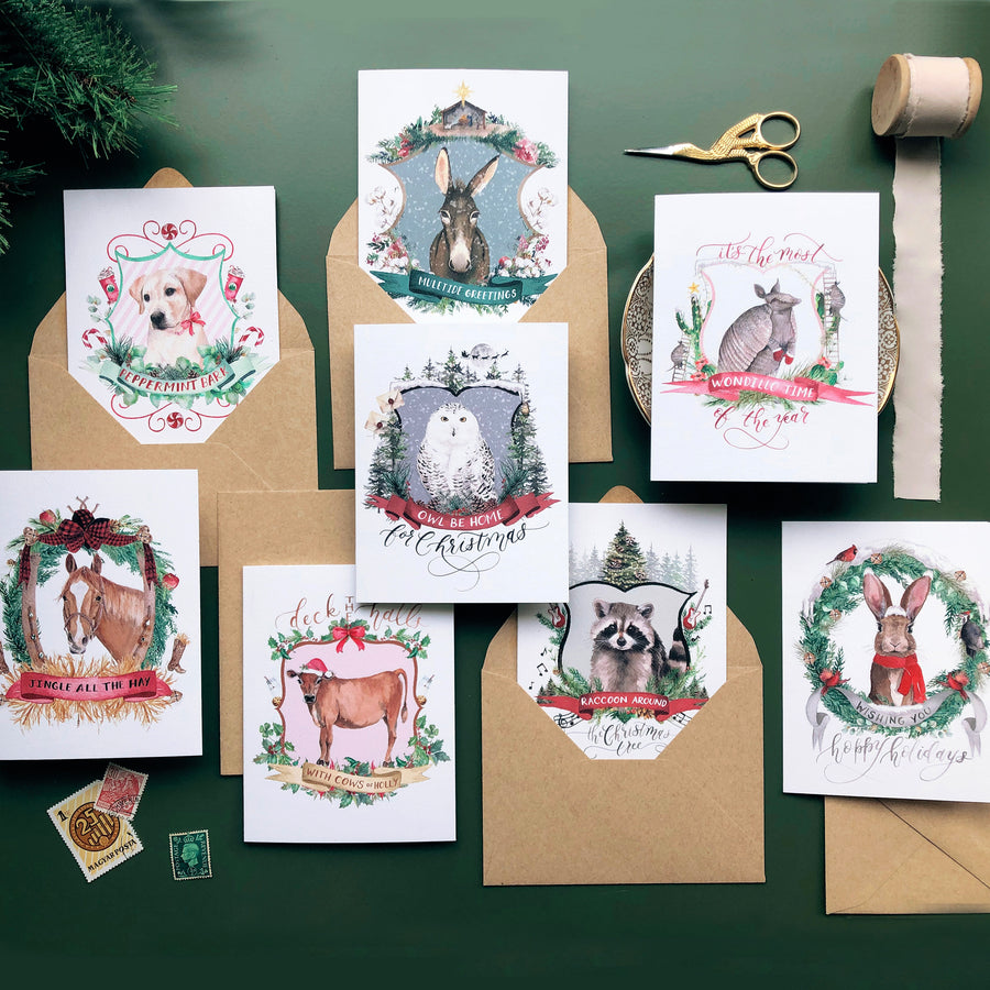 Christmas Crests Greeting Card Bundle