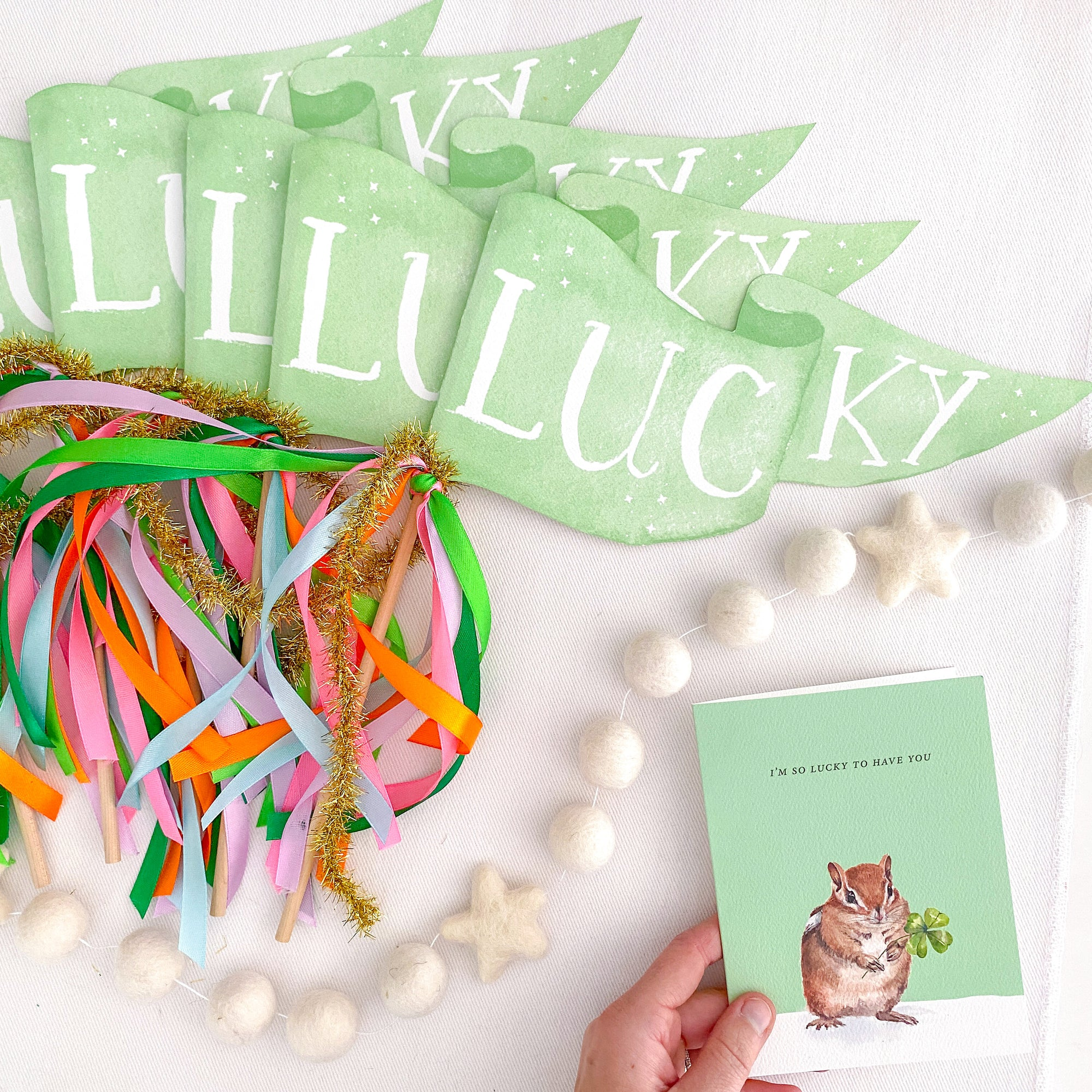 Lucky Party Pennant