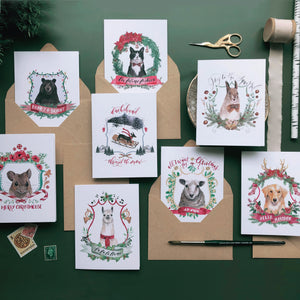 Christmas Crests Collection No. 1 Assorted Greeting Card Box Set
