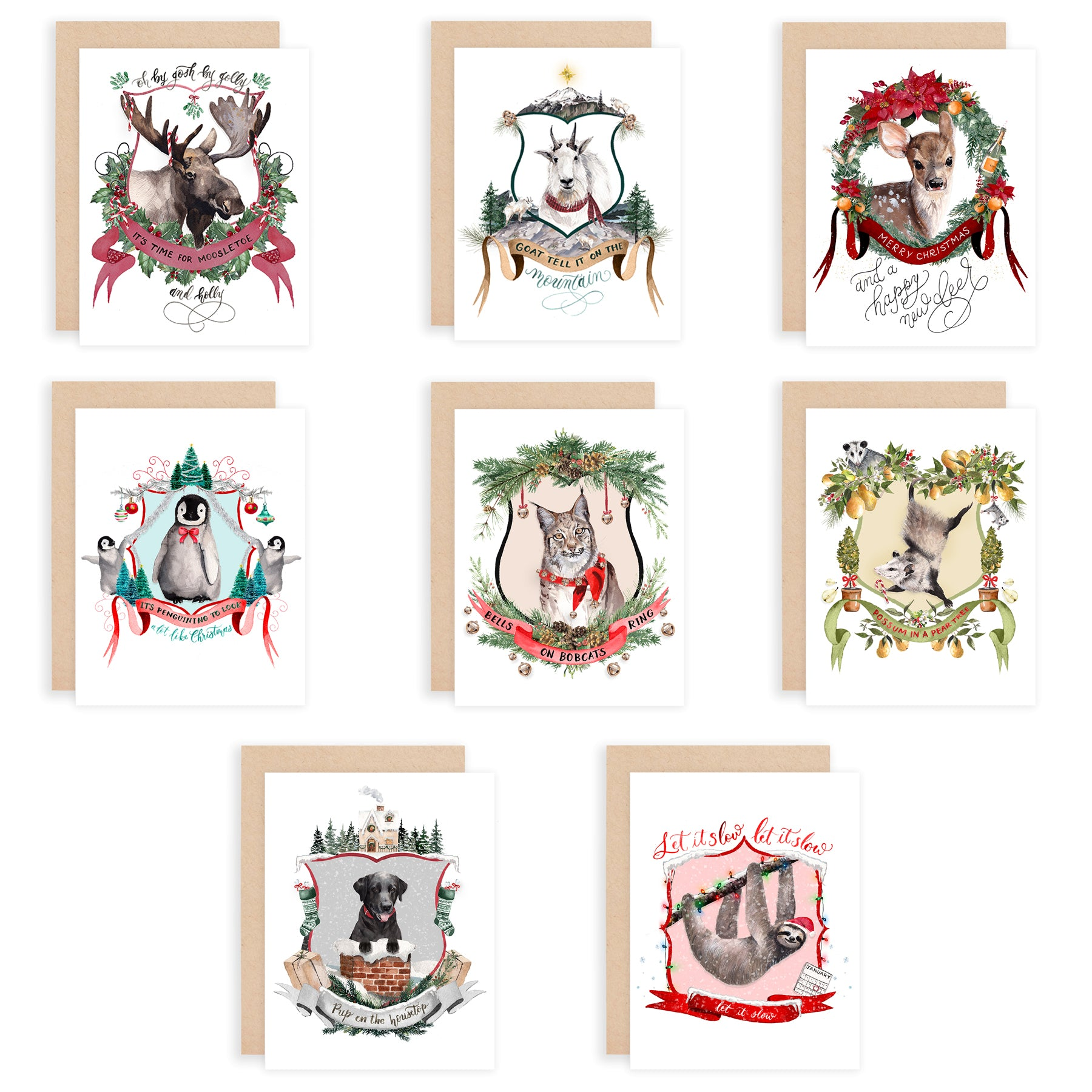 Christmas Crests Collection No. 3 Assorted Greeting Card Box Set