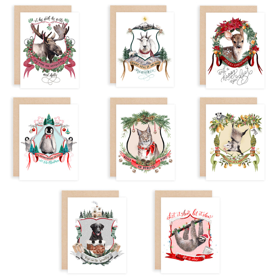 2019 Christmas Crests Assorted Greeting Card Box Set