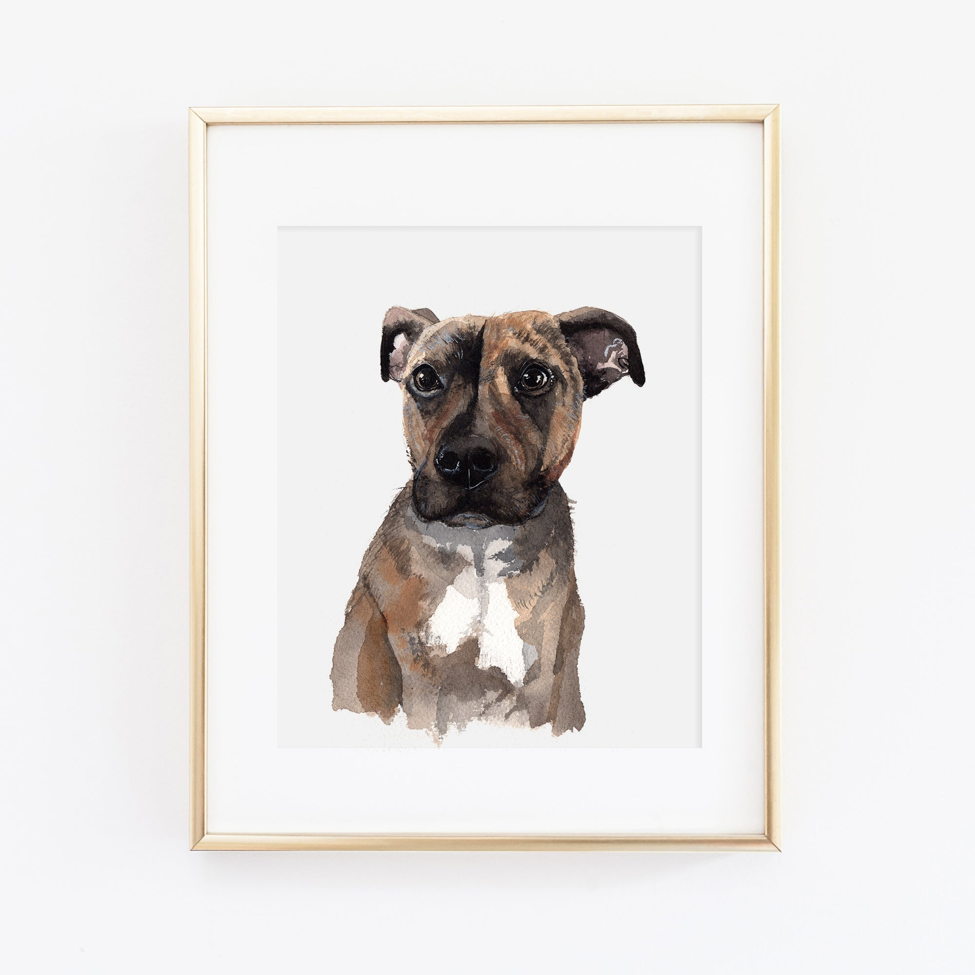 Pitbull Dog Art Print - Luna