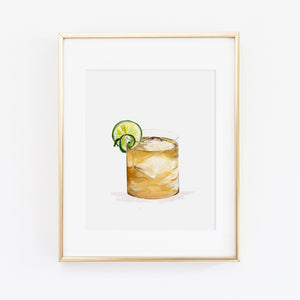Bourbon Ginger Art Print