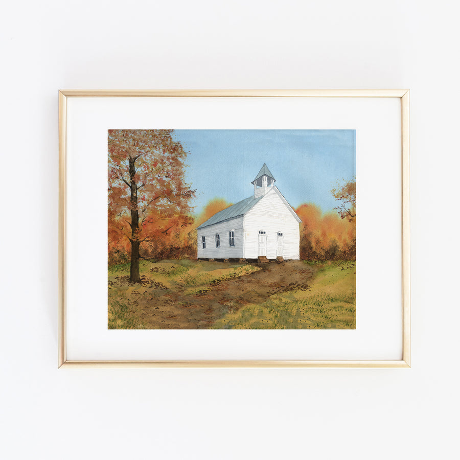 Autumn Sunday Art Print
