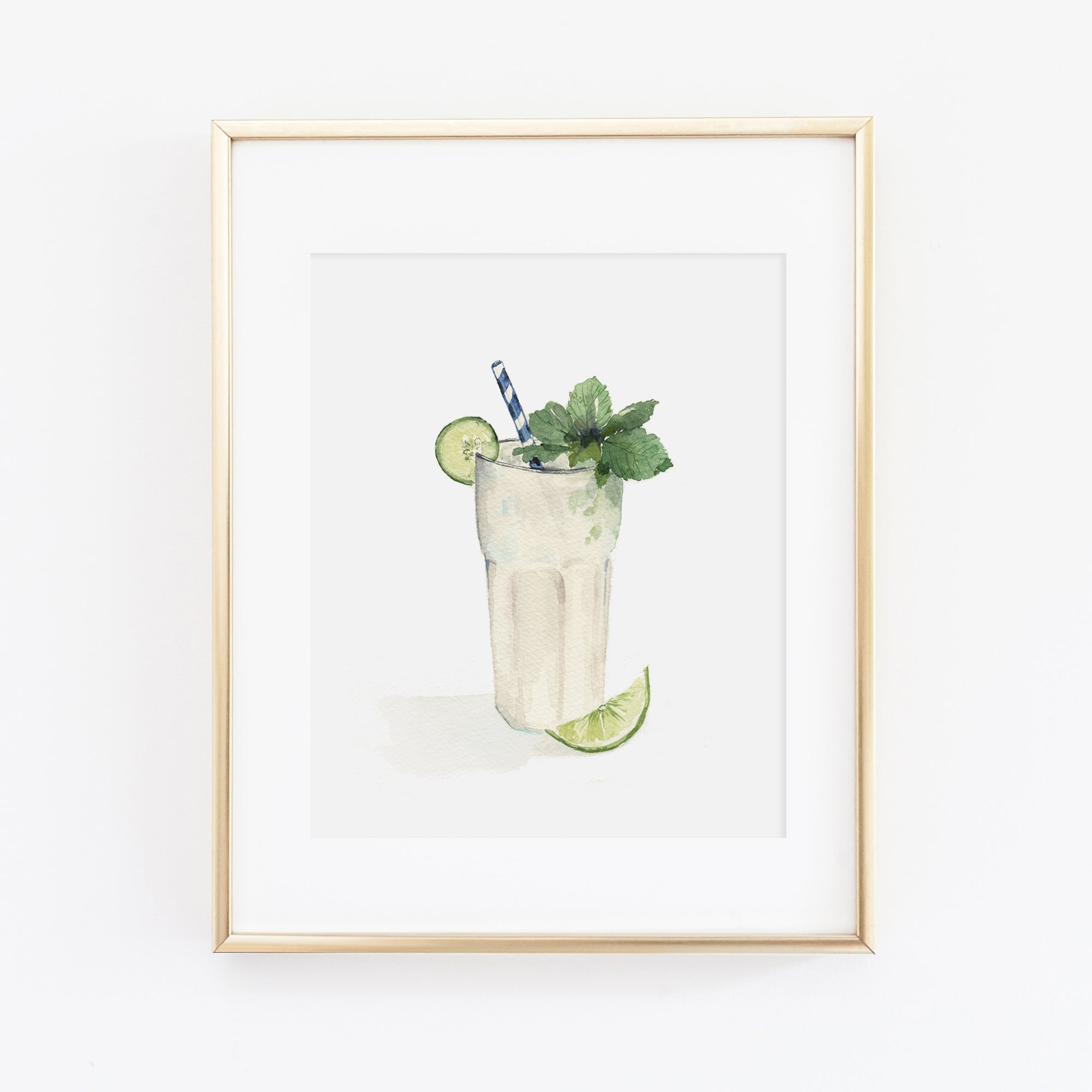 Cucumber Mint Gin Art Print