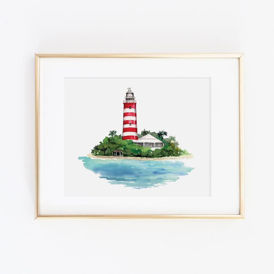 Hope Town Lighthouse, Bahamas Art Print