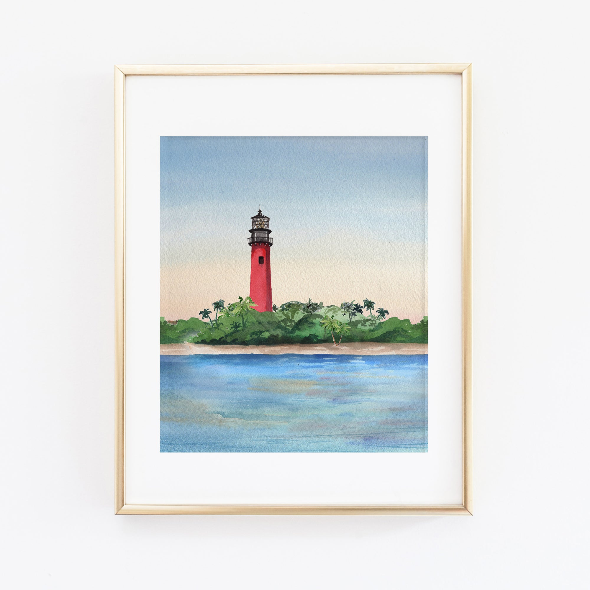 Jupiter Lighthouse Florida Art Print