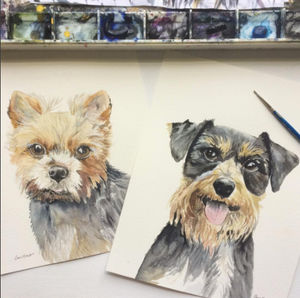 *Mini* Custom Watercolor Pet Portrait