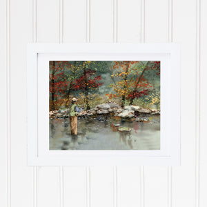 Afternoon Angler Art Print