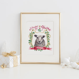 All I Want for Christmas is Ewe Art Print