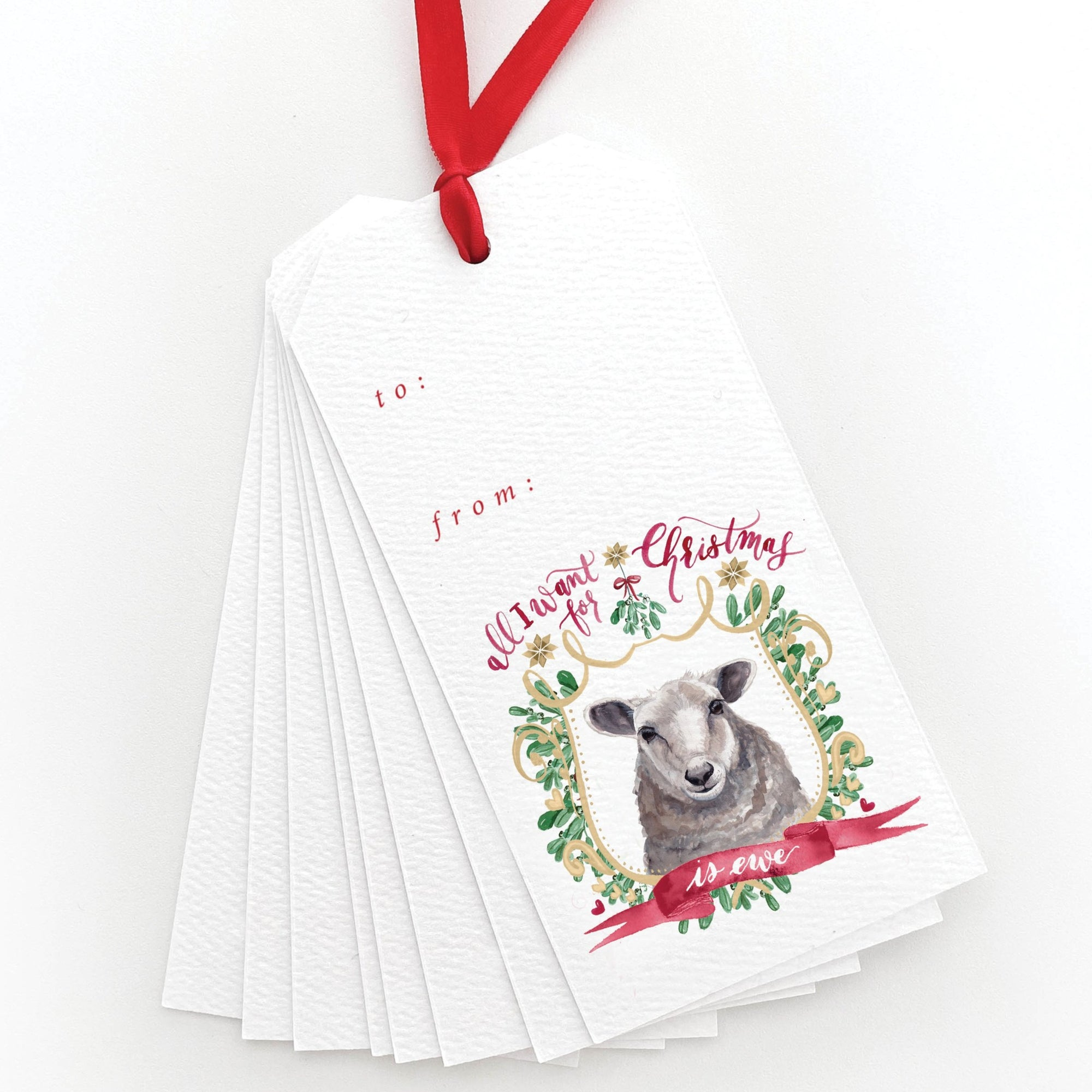 All I Want for Christmas is Ewe Gift Tags