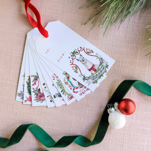 Christmas Crests Collection No. 1 Gift Tag Set