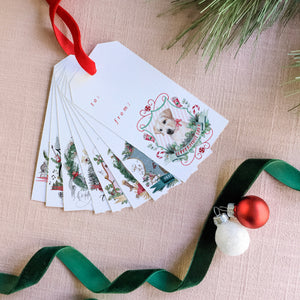 2018 Assorted Christmas Crests Gift Tag Set