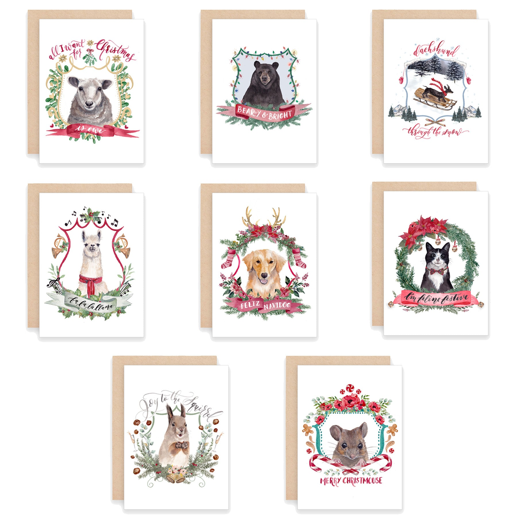 Greeting cards cami monet christmas crests assorted greeting card box set m4hsunfo