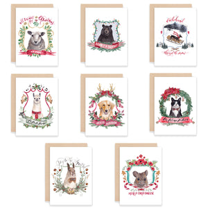 Christmas Crests Assorted Greeting Card Box Set