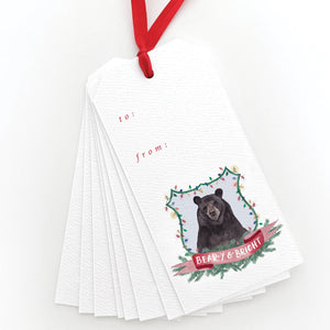 Beary and Bright Gift Tags