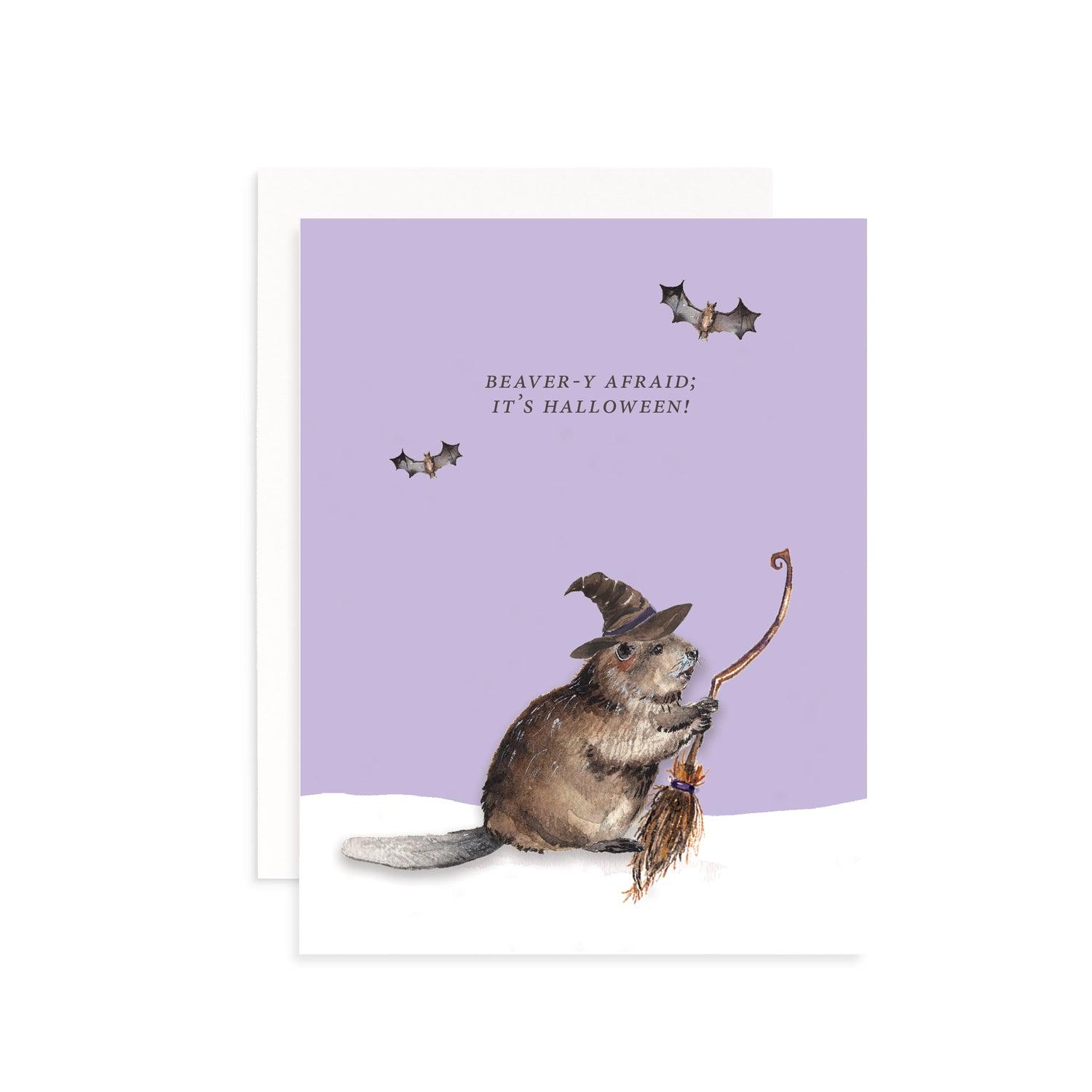 Beaver-y Afraid; It's Halloween! Greeting Card