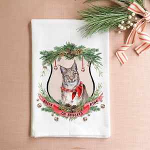 Bells on Bobcats Ring Tea Towel